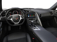 2018 Chevrolet Corvette Convertible Stingray Z51 2LT | Photo 2 | Jet Black Competition Sport buckets Leather seating surfaces with sueded microfiber inserts (194-AE4)