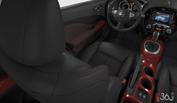 Black/Red Leather w/Red Trim
