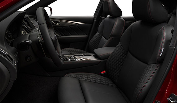 Quilted Graphite Semi-Aniline Leather