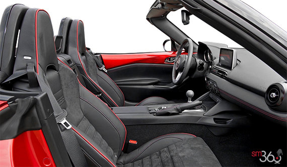 Black Recaro Sport Seats with red stitching