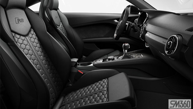 Black fine nappa leather seats with black Honeycomb stitch