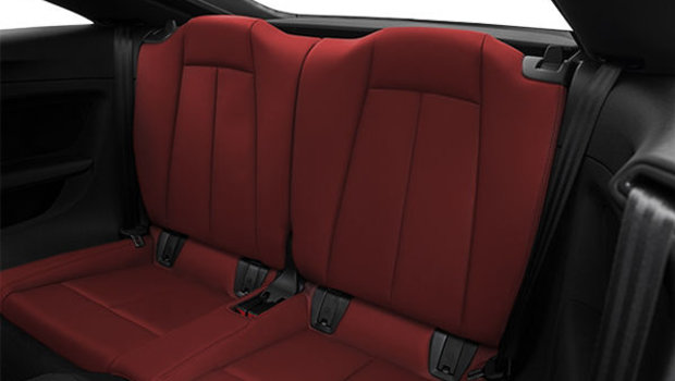 Express Red Fine Nappa leather with Granite Grey stitching