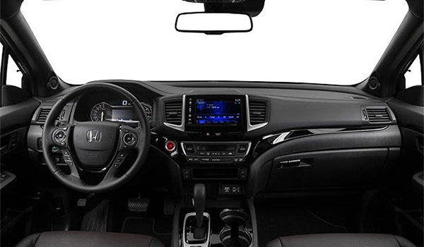2017 Honda Ridgeline BLACK EDITION | Photo 3 | Black Leather with Red Contrast  Stiching