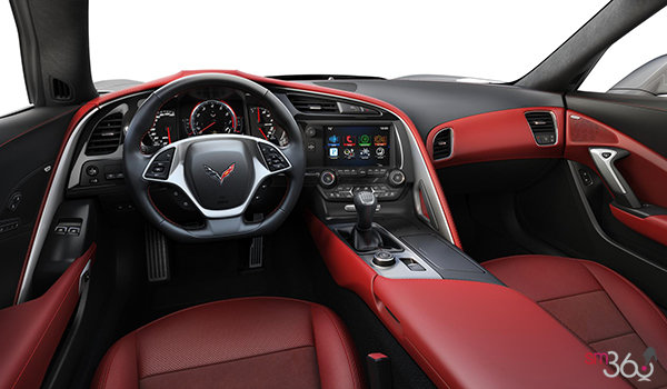 2018 Chevrolet Corvette Coupe Grand Sport 2LT | Photo 3 | Adrenaline Red Competition Sport buckets Leather seating surfaces with sueded microfiber inserts (704-AE4)