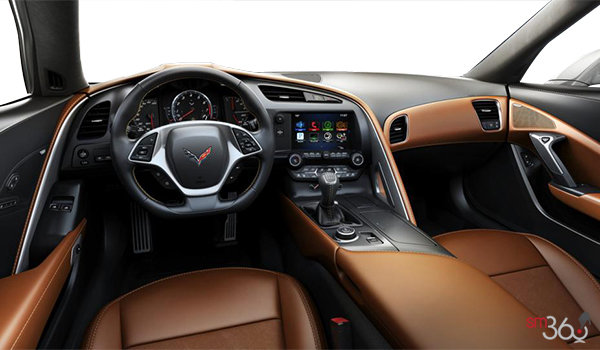 2018 Chevrolet Corvette Coupe Grand Sport 3LT | Photo 3 | Kalahari GT buckets Leather seating surfaces with sueded microfiber inserts (346-AQ9)