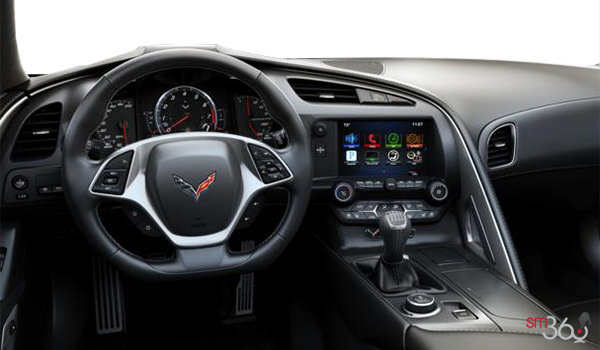 2018 Chevrolet Corvette Coupe Grand Sport 3LT | Photo 2 | Jet Black GT buckets Leather seating surfaces with sueded microfiber inserts (198-AQ9)