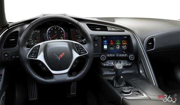2018 Chevrolet Corvette Coupe Grand Sport 3LT | Photo 2 | Jet Black GT buckets Perforated Napa leather seating surfaces (195-AQ9)