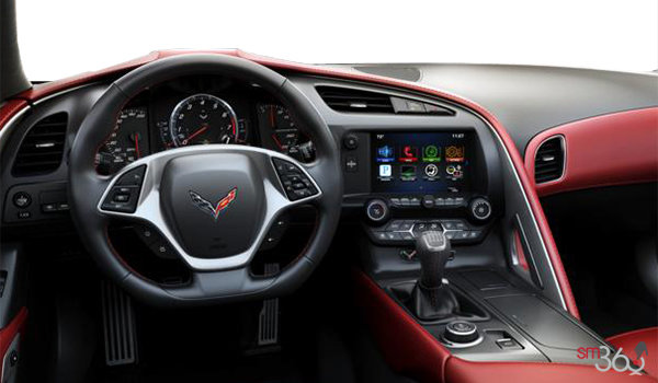 2018 Chevrolet Corvette Coupe Grand Sport 3LT | Photo 2 | Adrenaline Red GT buckets Perforated Napa leather seating surfaces (705-AQ9)
