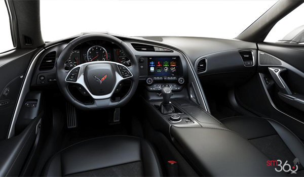 2018 Chevrolet Corvette Coupe Stingray Z51 2LT | Photo 2 | Jet Black GT buckets Leather seating surfaces with sueded microfiber inserts (194-AQ9)