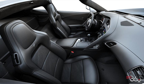 2018 Chevrolet Corvette Coupe Stingray Z51 3LT | Photo 1 | Jet Black GT buckets Leather seating surfaces with sueded microfiber inserts (198-AQ9)