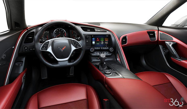 2018 Chevrolet Corvette Coupe Stingray Z51 3LT | Photo 2 | Adrenaline Red GT buckets Leather seating surfaces with sueded microfiber inserts (706-AQ9)