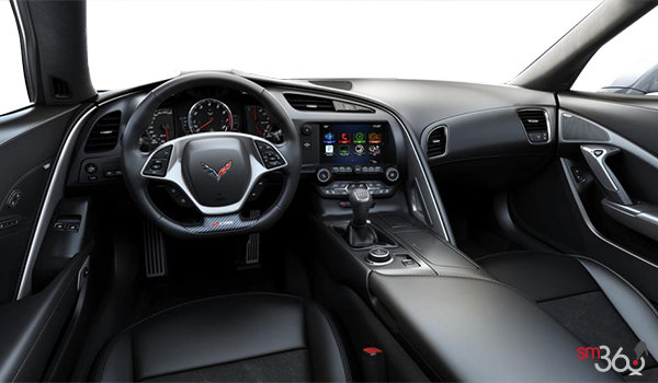 2018 Chevrolet Corvette Coupe Z06 3LZ | Photo 3 | Jet Black GT buckets Leather seating surfaces with sueded microfiber inserts (198-AQ9)