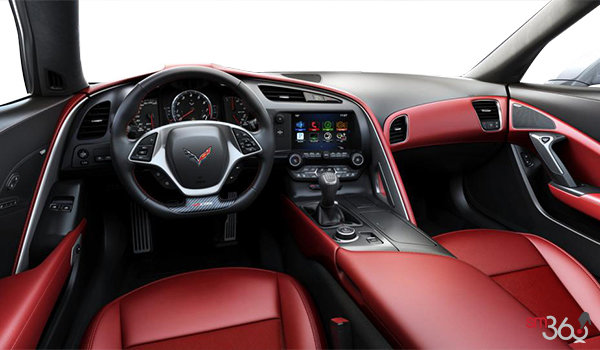 2018 Chevrolet Corvette Coupe Z06 3LZ | Photo 3 | Adrenaline Red GT buckets Leather seating surfaces with sueded microfiber inserts (706-AQ9)