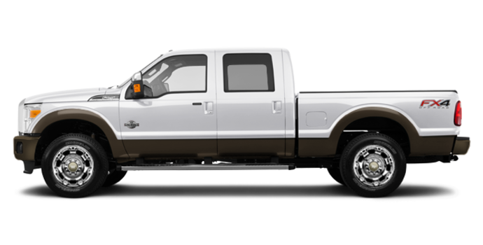 2016 Ford Super Duty F-250 KING RANCH | Photo 4 | White Platinum / Caribou