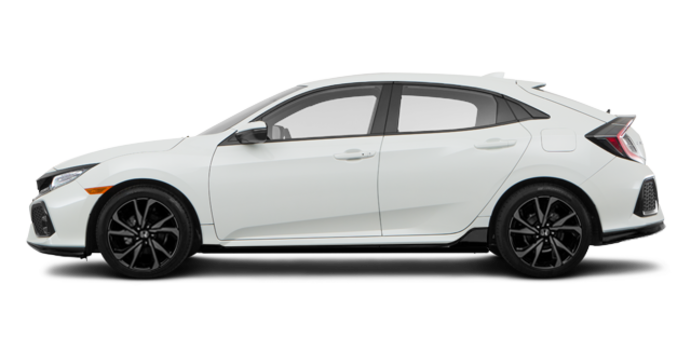 2018 Honda Civic hatchback SPORT TOURING | Photo 4 | White Orchid Pearl