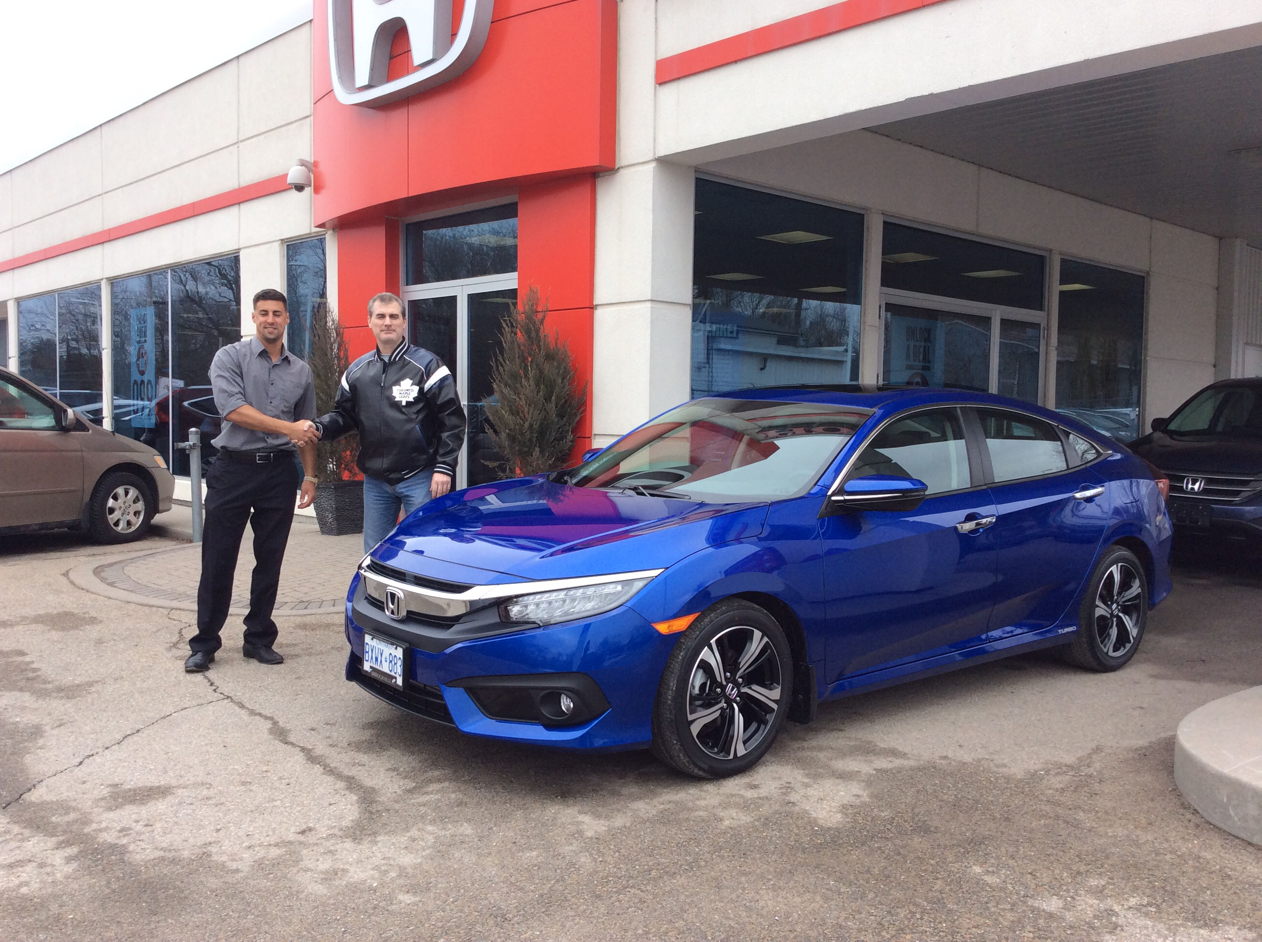 First 2016 Civic Touring In Aegean Blue By Shawn Lawson