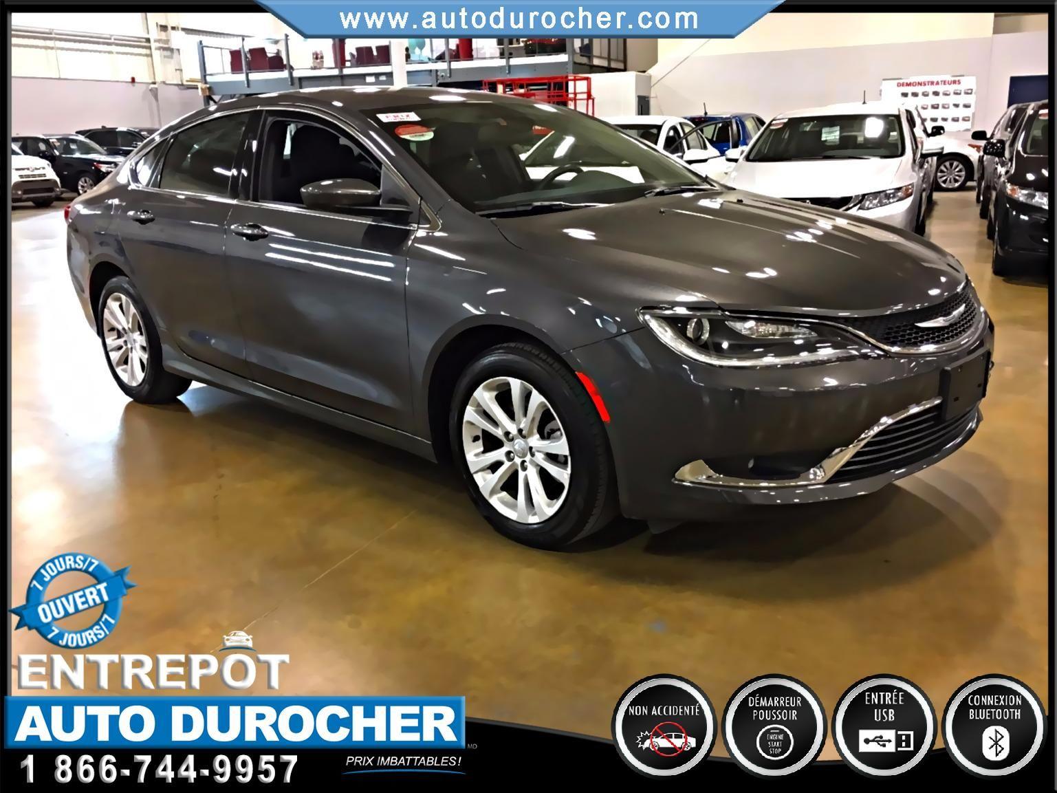 Chrysler 200 LIMITED, AUTOMATIQUE, JANTES, BLUETOOTH, UCONNECT 2016