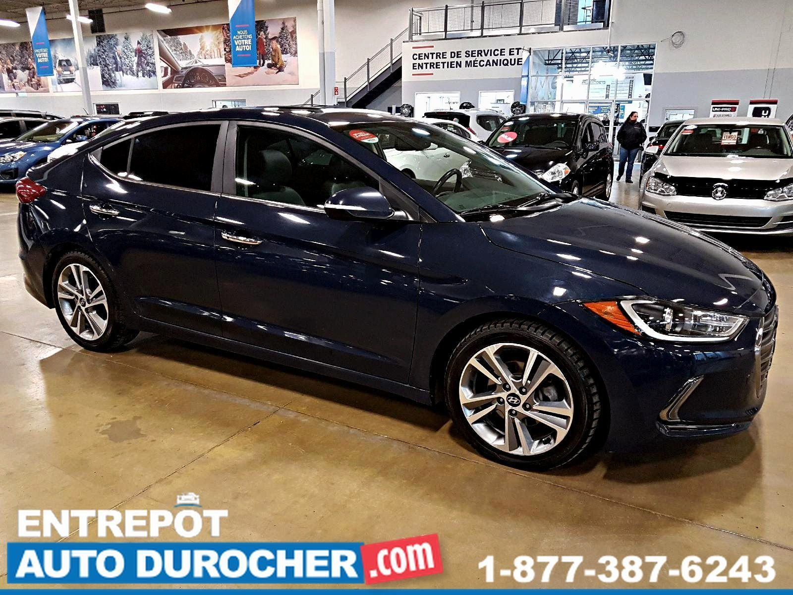 2017  Hyundai Elantra LIMITED - TOIT OUVRANT - CUIR - AUTOMATIQUE