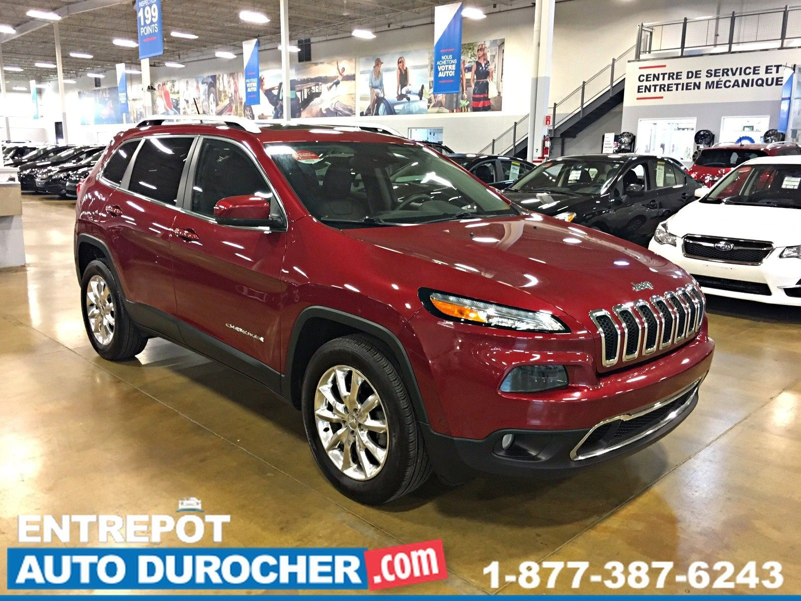 2015 2015 JEEP CHEROKE LIMITED TOIT PANORAMIQUE CUIR 4X4 NAVIGATION Jeep Cherokee Limited AWD CUIR TOIT