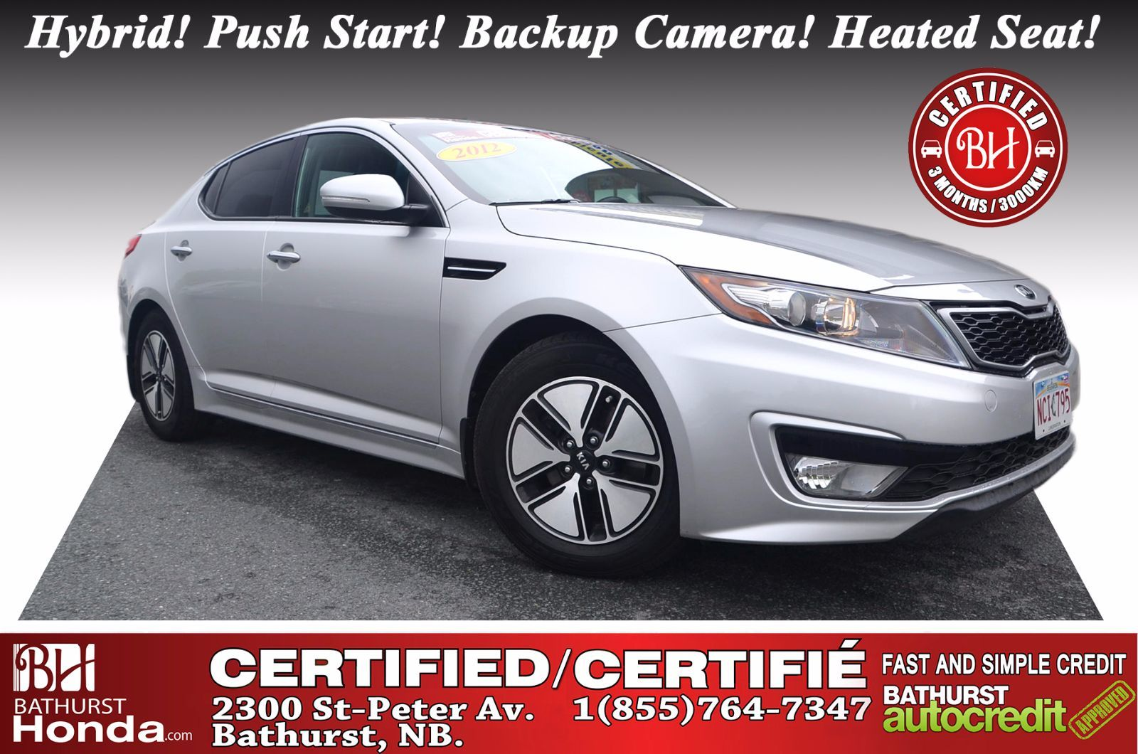 Used 2012 Kia Optima Ex Hybrid At Bathurst Honda P3522 Rear View Camera