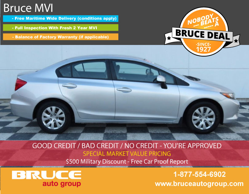 Used 2012 honda civic lx 1 8l 4 cyl i vtec automatic fwd for Honda used inventory