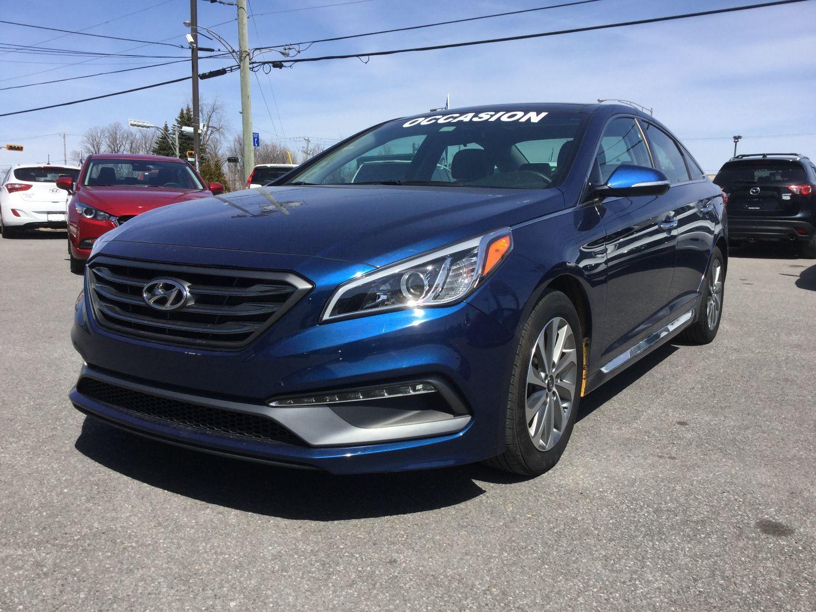 Hyundai Sonata Sport, TOIT, NAVIGATEUR, A/C BIZONE, MAGS, CAMERA 2016 JAMAIS ACCIDENTÉ, UN SEUL PROPRIÉTAIRE