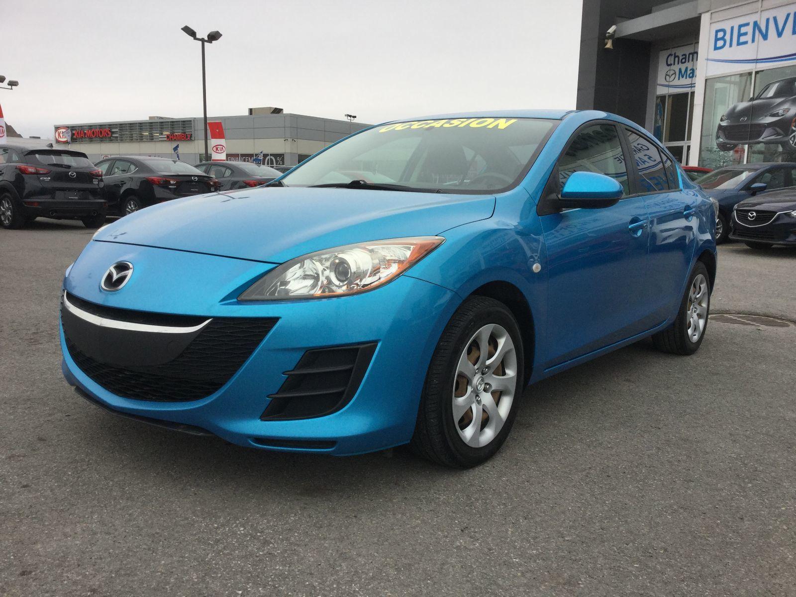Mazda Mazda3 A/C, GROUPE ÉLECTRIQUE 2010 JAMAIS ACCIDENTÉ
