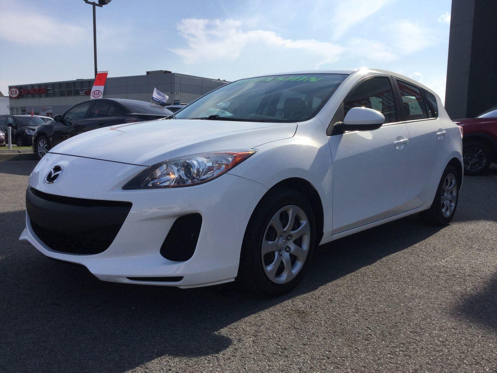 Mazda Mazda3 **RÉSERVÉ**, GX, A/C, GROUPE ÉLECTRIQUE 2013 JAMAIS ACCIDENTÉ, UN SEUL PROPRIÉTAIRE