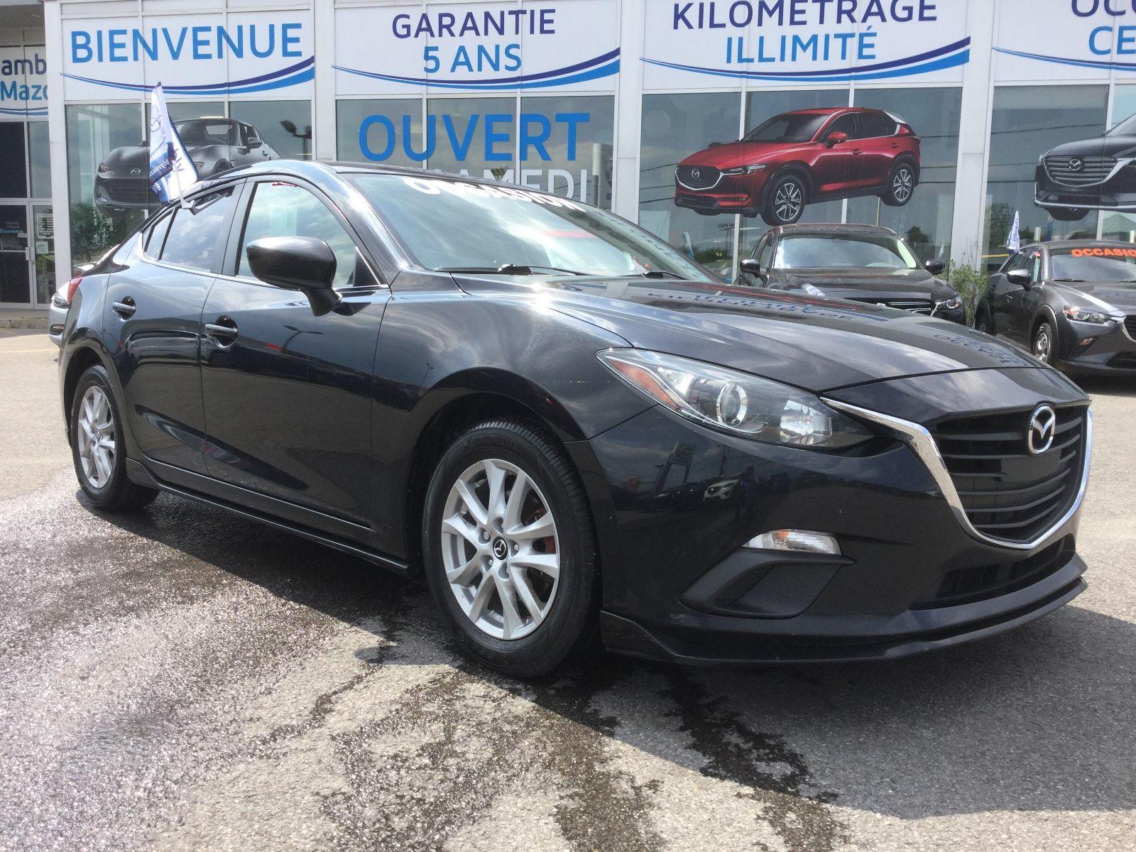 Mazda Mazda3 GS,KIT DE JUPE AREO,  MAGS, RÉGULATEUR DE VITESSE 2015 JAMAIS ACCIDENTÉ, NOUVELLE ARRIVAGE