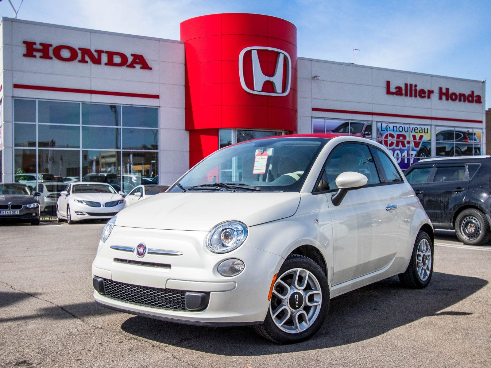 fiat 500c pop pneus hiver pneus t 2012 d 39 occasion lallier honda montreal. Black Bedroom Furniture Sets. Home Design Ideas