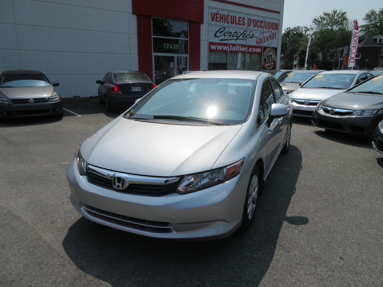 Pre owned 2012 honda civic lx lallier honda montreal in for Honda used inventory