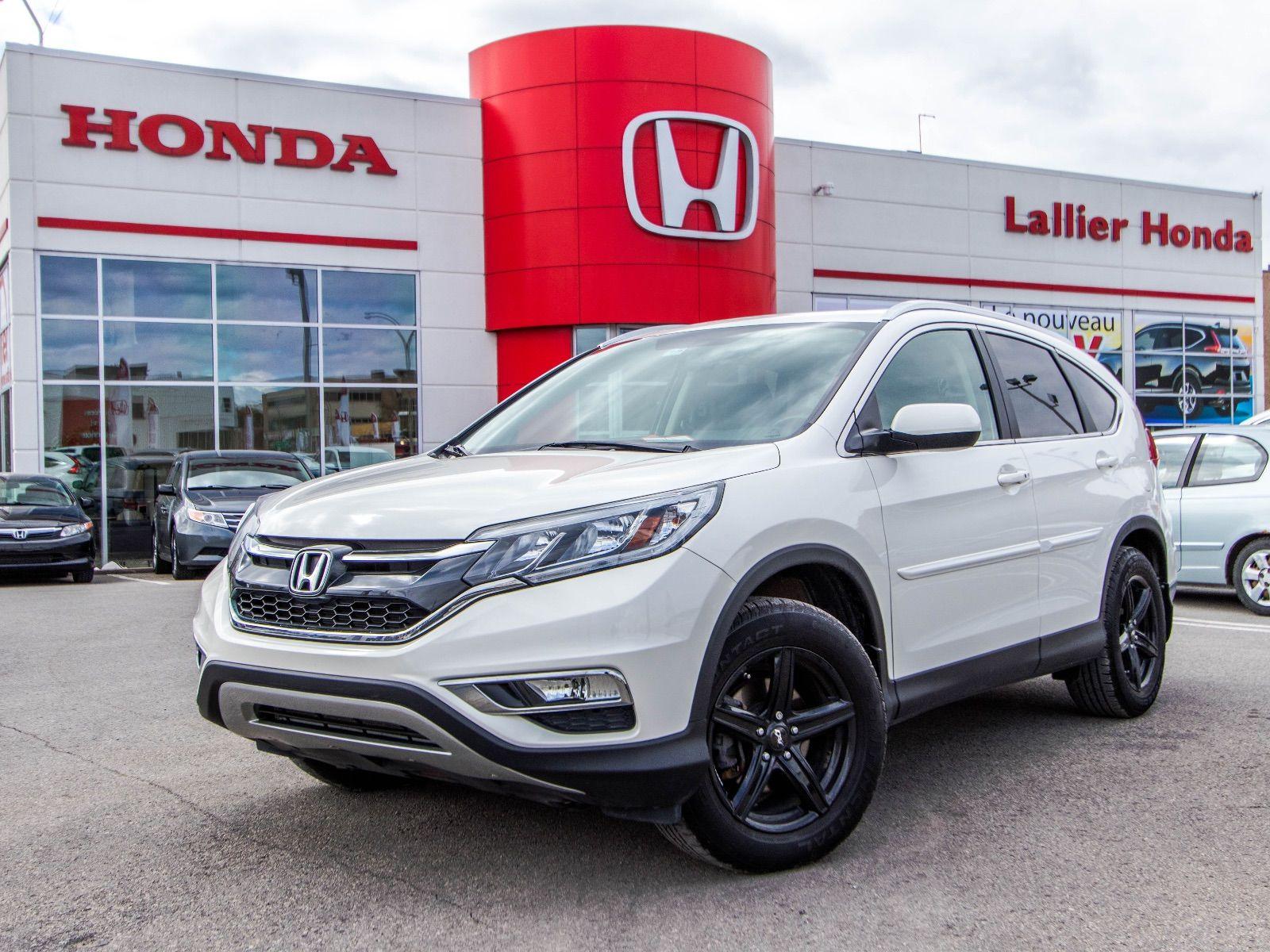 Pre owned 2015 honda cr v ex l lallier honda montreal in for Honda used inventory