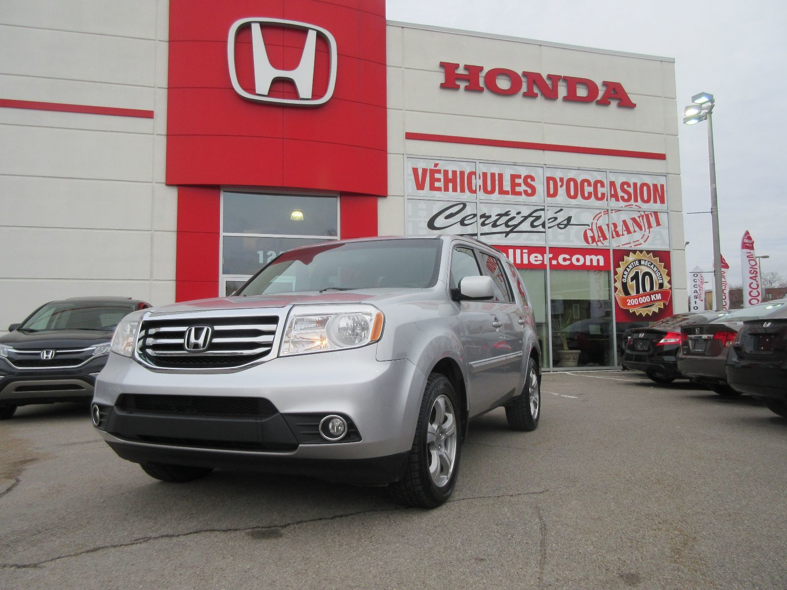 Pre owned 2013 honda pilot ex l lallier honda montreal in for Honda used inventory