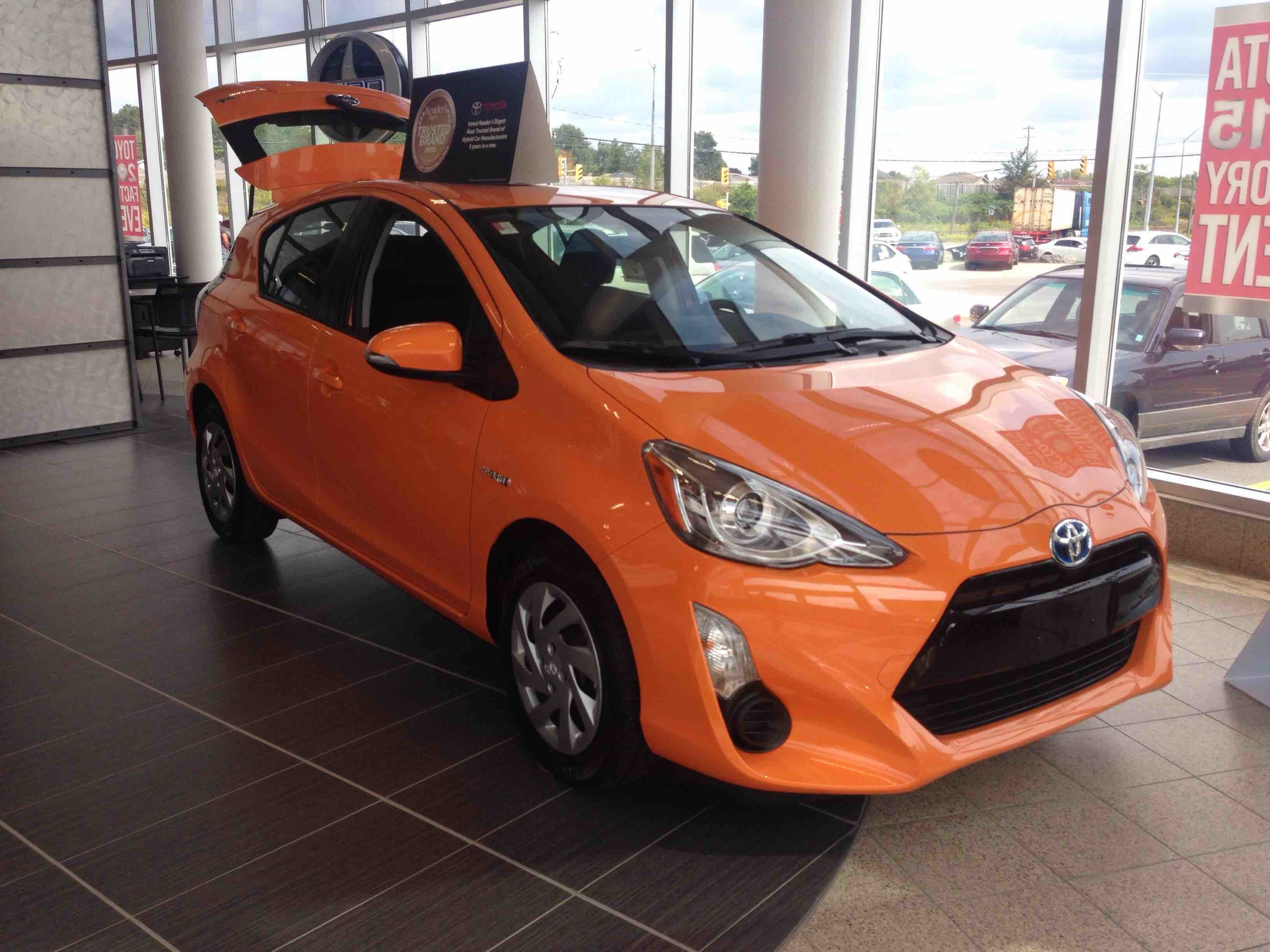 new 2015 toyota prius c technology for sale in kingston kingston toyota in kingston. Black Bedroom Furniture Sets. Home Design Ideas