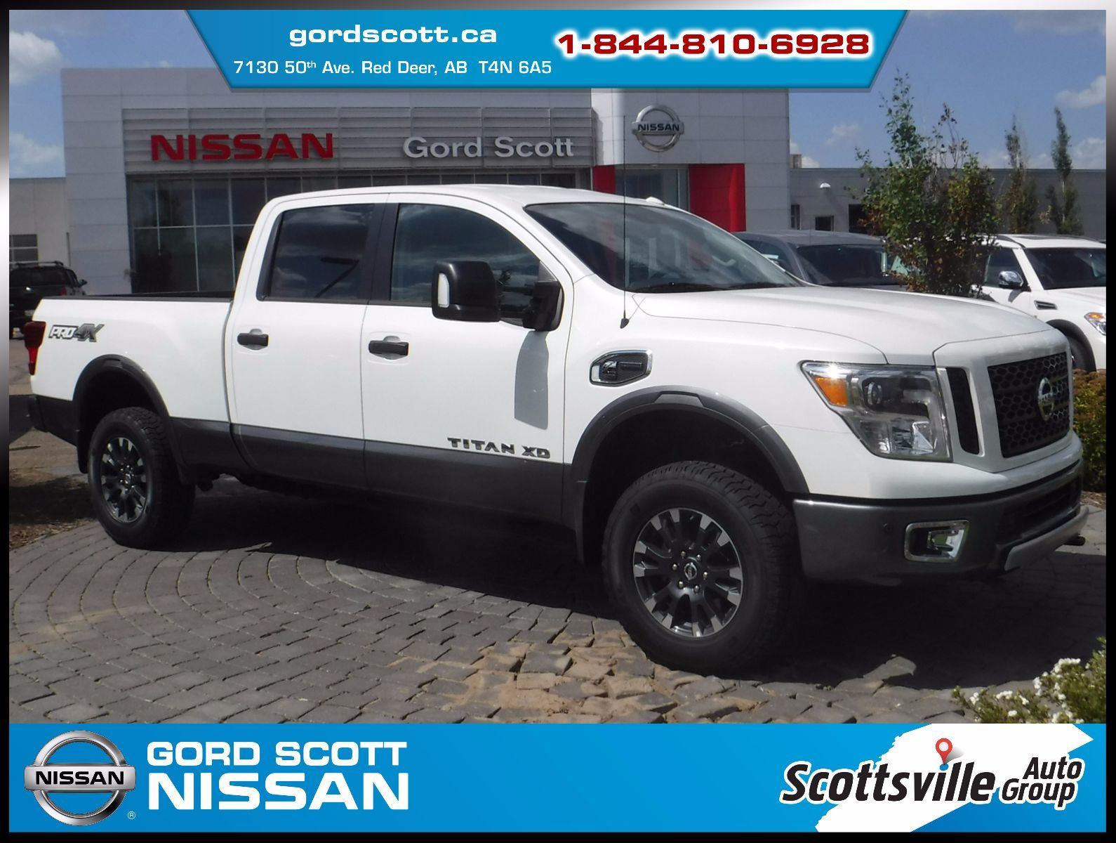 new 2017 nissan titan xd diesel pro 4x luxury package w two tone paint for sale in red deer. Black Bedroom Furniture Sets. Home Design Ideas