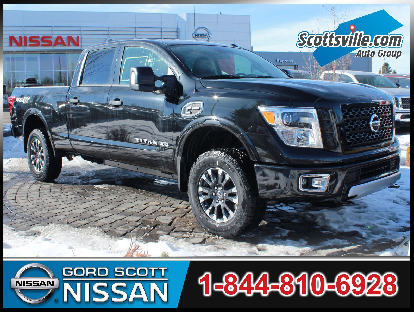 new 2017 nissan titan xd diesel pro 4x luxury package for sale in red deer gord scott nissan. Black Bedroom Furniture Sets. Home Design Ideas
