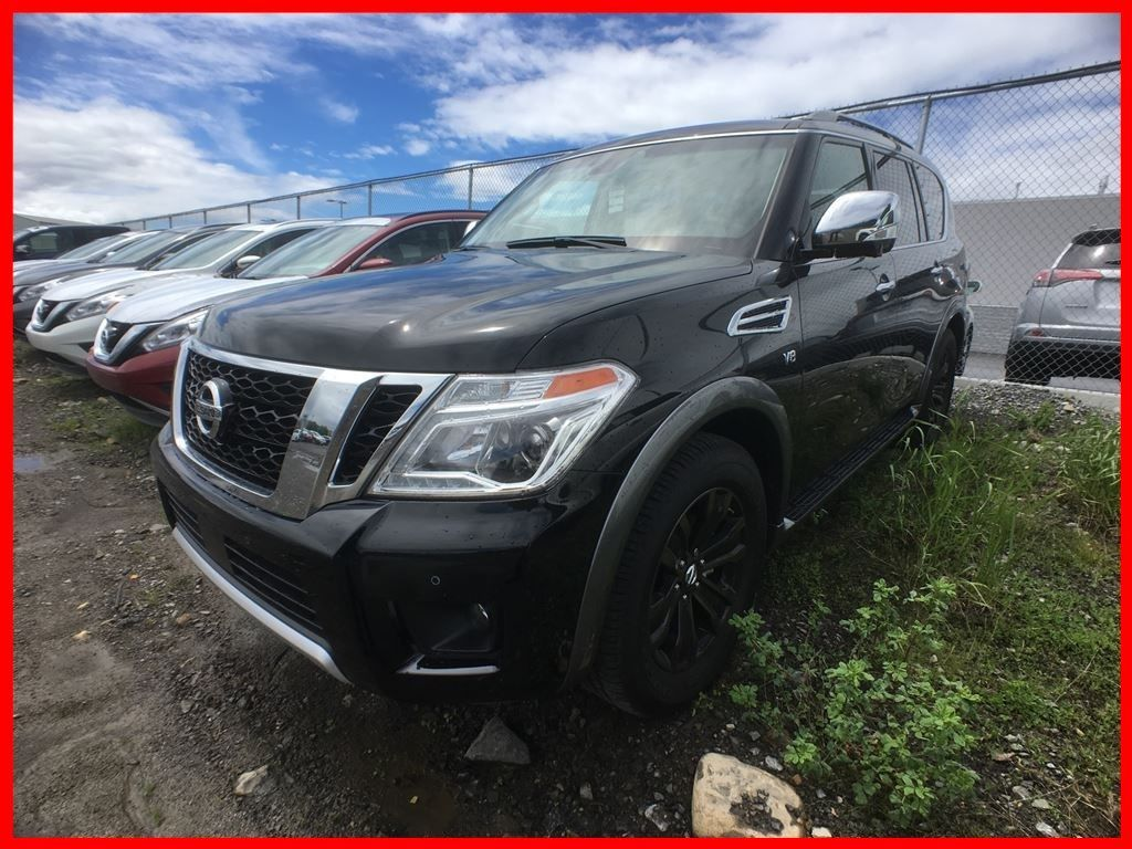 new 2017 nissan armada platinum for sale in pointe claire spinelli nissan in pointe claire quebec. Black Bedroom Furniture Sets. Home Design Ideas