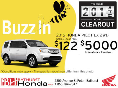 Save up to $5,000 on the new 2014 Honda Pilot