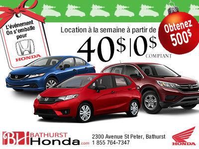 L'événement on s'emballe pour Honda est de retour!