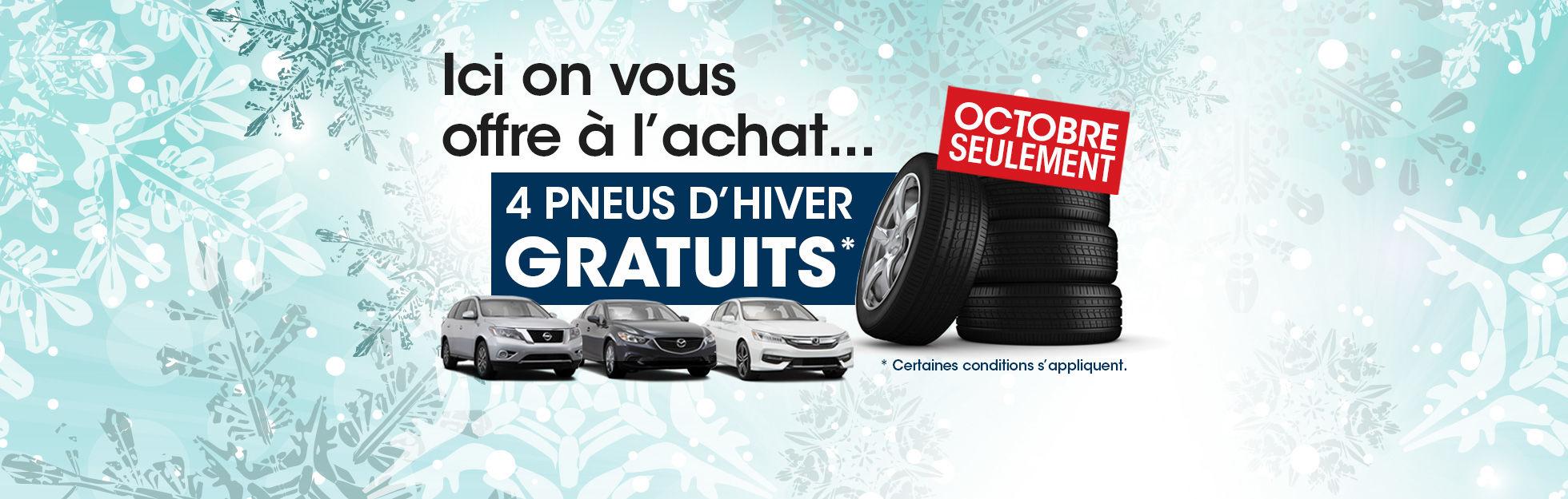 4 pneus d'hiver gratuits!