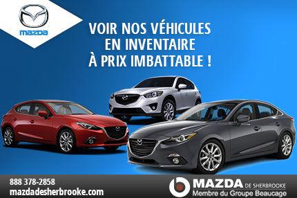 Véhiculez Mazda en inventaire chez Mazda Sherbrooke