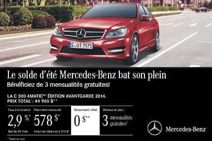 Classe C 300 de Mercedes-Benz à compter de 578$ par mois