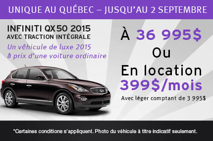 Infiniti QX50 2015 à partir de 36 995$