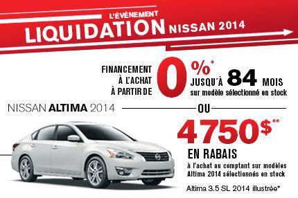 Nissan Altima 2014 en liquidation de 4750$