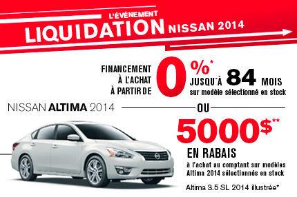 Nissan Altima 2014 en liquidation de 5000$