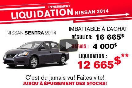 La Nissan Sentra 2014 à seulement 12 665$!