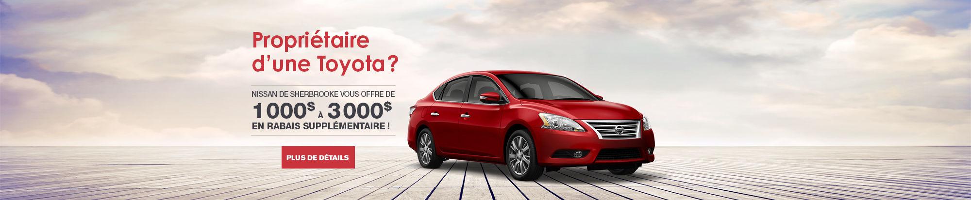 Rabais supplémentaire chez Nissan Sherbrooke