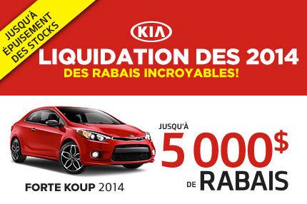 Jusqu'à 5000$ de rabais sur la Kia Forte Koup 2014