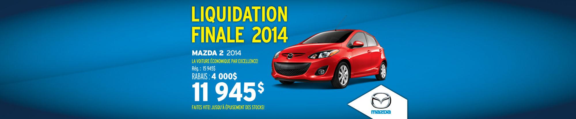 Mazda2 2014 liquidation