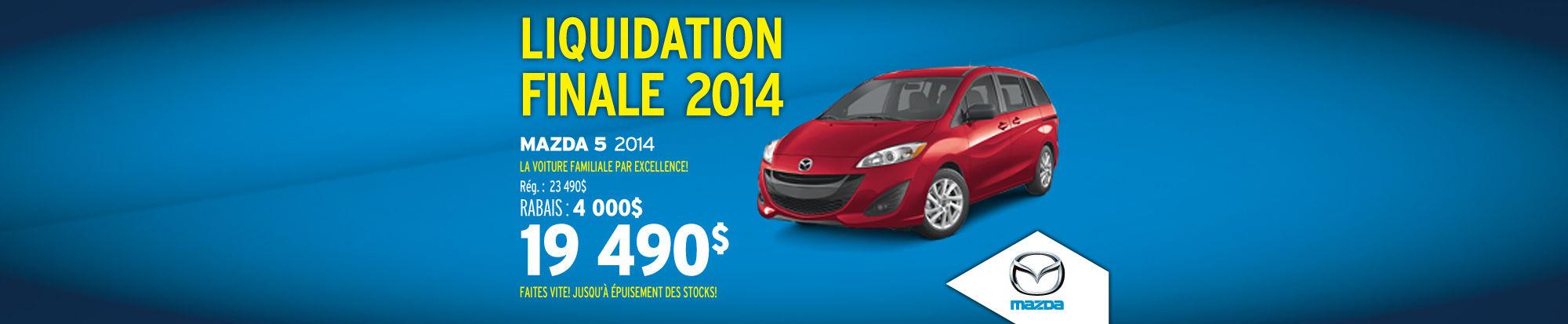 Mazda5 2014 liquidation